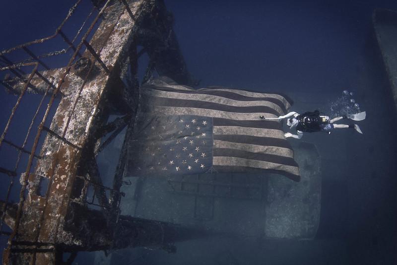 Flag on USS Vandenberg