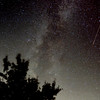 Milky Way with Perseids Meteor