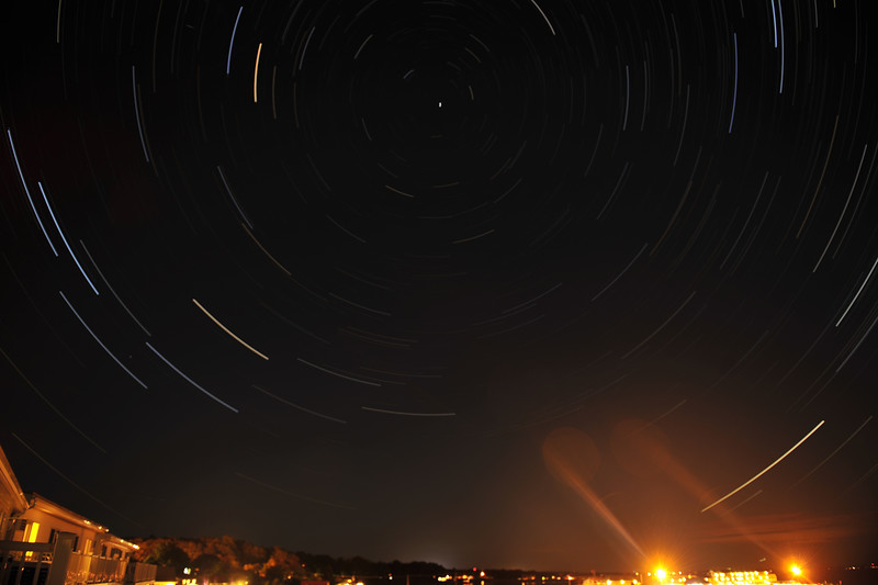 Star Trails over Ogunquit Beach