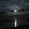 Ful Moon peeking through the clouds Ogunquit Beach 2016