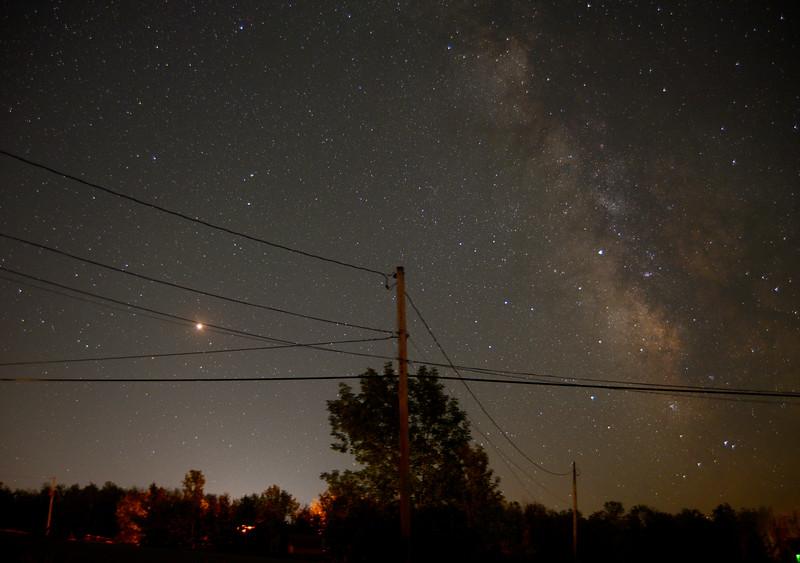 Milky Way and Mars July 2018