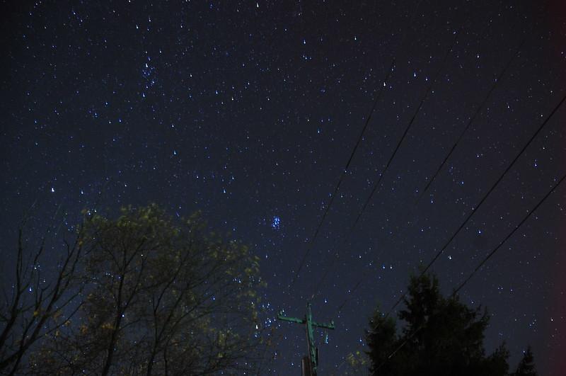 Western Sky and M45 Springville NY Fall 2015