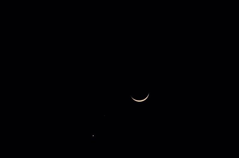 Moon and Venus over the Santa Monica Pier