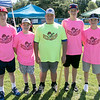 The Fourth annual Whifflin for Wishes was held at McLaughlin Field in Leominster on Saturday, August 24, 2019. This event is was open to people of all ages and skill levels, and 100% of the proceeds (after expenses) went to Make-A-Wish® Massachusetts & Rhode Island to grant wishes to children with life-threatening medical conditions. They have raised in the four years about $13,000. this year had 34 teams with three to five people on each team. This team from Leominster called themselves the Sons of Pitches. From left is Jack Forgues, 12, Will Hoyles, 13, Jake Paskell, 13, Ryan Garner, 14, and Zack Casey. SENTINEL & ENTERPRISE/JOHN LOVE