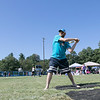 "The Fourth annual Whifflin for Wishes was held at McLaughlin Field in Leominster on Saturday, August 24, 2019. This event is was open to people of all ages and skill levels, and 100% of the proceeds (after expenses) went to Make-A-Wish® Massachusetts & Rhode Island to grant wishes to children with life-threatening medical conditions. They have raised in the four years about $13,000. this year had 34 teams with three to five people on each team. Mike Sears from Baldwinville with the team ""Wild Things"" gets ready to swing at a pitch. SENTINEL & ENTERPRISE/JOHN LOVE"