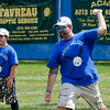 Chad Garner delivers a pitch during the Wifflin' For Wishes tournament at McLaughlin Field in Leominster on Saturday morning.  Proceeds from the event are to be donated to the Make-A-Wish Foundation. SENTINEL & ENTERPRISE / Ashley Green