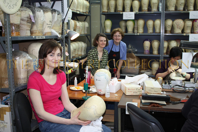 Chelsea Roth wig maker and hair stylist , Linda Rice the wig maker for Saturday Night Live look on