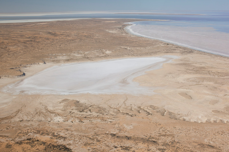 Flying over Lake Eyre from Marree (a later / different trip)