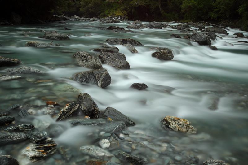 River fall near Haast Pass, NZ south island