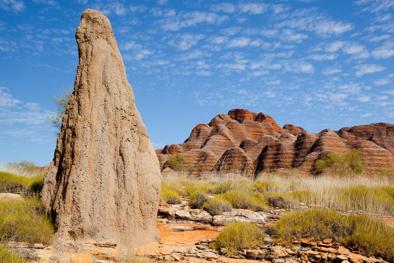 Spinifex termite mound, Bungle-bungles