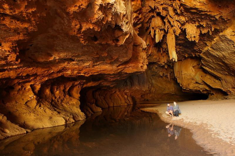 Us in the tunnel, Tunnel Creek NP, Kimberley