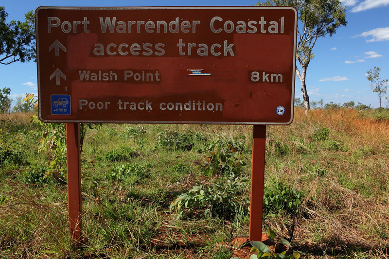 8km to Port Warrender.....1.5 hrs of hard track. No damage to my car though, others had a few issues...
