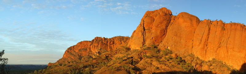 Panorama sunset at Echidna Chasm area