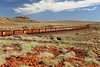 Ah, heard of Rio Tinto...China....Iron Ore....Australia...Western Australia...Pilbara?<br /> This is the Pilbara on the way to China, on a Rio iron ore train.