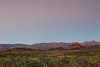 Twilight at Macdonnell Ranges