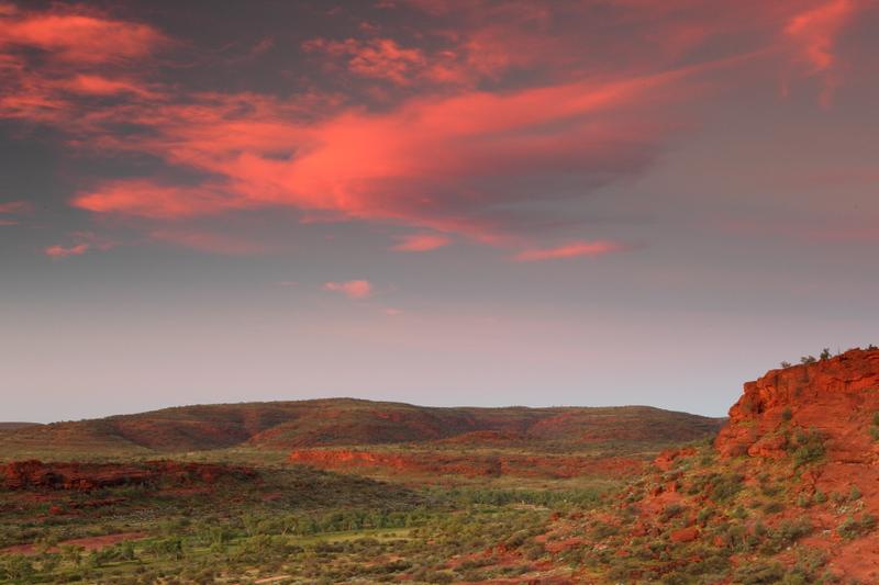 Sunset at Finke NP