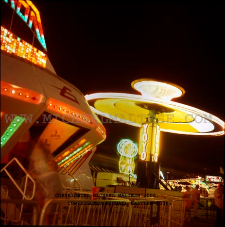 Minnesota State Fair Midway at Night. St. Paul, Minnesota. Client: Stock Photography Agency.
