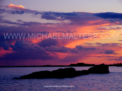 Sunset Over Beaver Bay, North Shore of Lake Superior.  Northern Minnesota. Client: Stock Photography Agency.