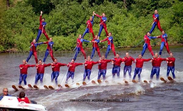 River Rats Water Skiing Show Perform During the Minneapolis Aquatennial Summer Festival. Client: Stock Photography Agency.