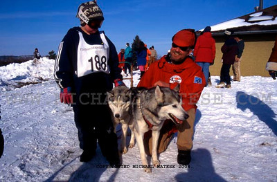 Father and Son Team at Dog Sled Race in Southern Minnesota. Client: Stock Photography Agency.