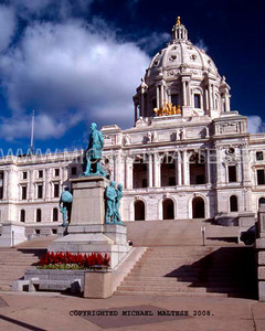 Minnesota State Capitol in the Summertime. St, Paul, Minnesota. Client: Stock Photography Agency.