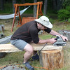 Nigel working on the benches