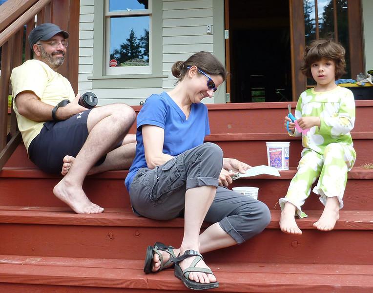 Mark, Sonya, and Morgan