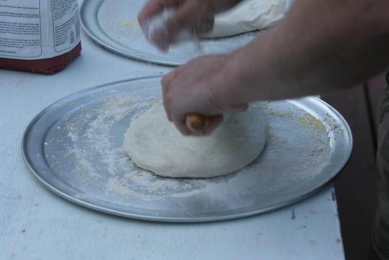 Matthew making pizza on Friday night
