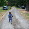 Not a good shot.. but totally expresses the theme of this weekend.. toddlers shooting off in all directions and having to be chased down (the drive, toward the pond, etc.,   )
