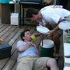 Man down, 911!  Emergency hydration for Chef Brett.