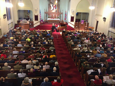 This is a concert at the Norwegian-American church in Minneapolis. It was almost a full house to hear Tina Thing Helseth on trumpet and Bretton Brown on Steinway grand piano.