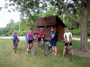 This is one of the groups that went bicycling on the Root River trail. Annie Stephanie Steve Frank and Goran