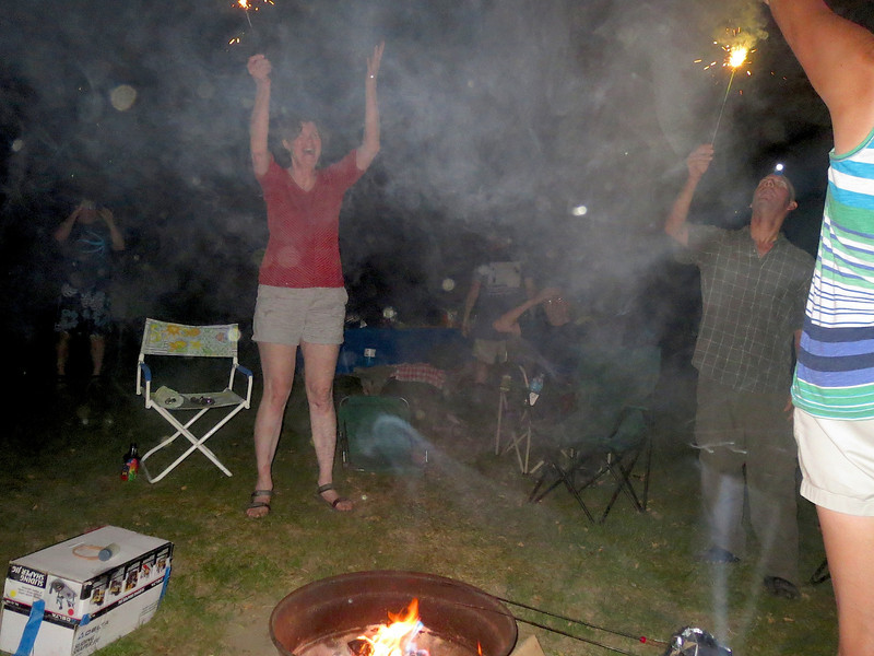 Things got a little out of hand around the campfire.