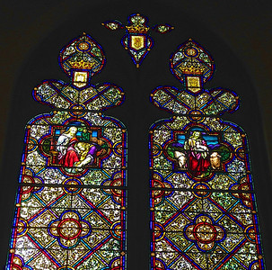 Some of the beautiful stained-glass windows of the American Norwegian Church in Minneapolis.