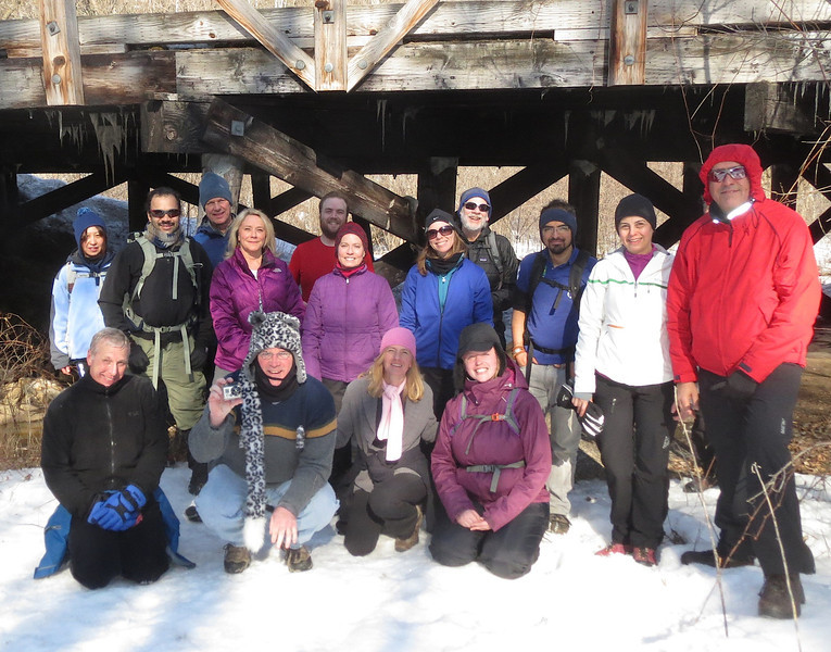 The Avid hikers meetup group at Afton State Park MN March 23 2014.
