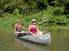 Steve and Annie at the beginning of our canoe down the river.