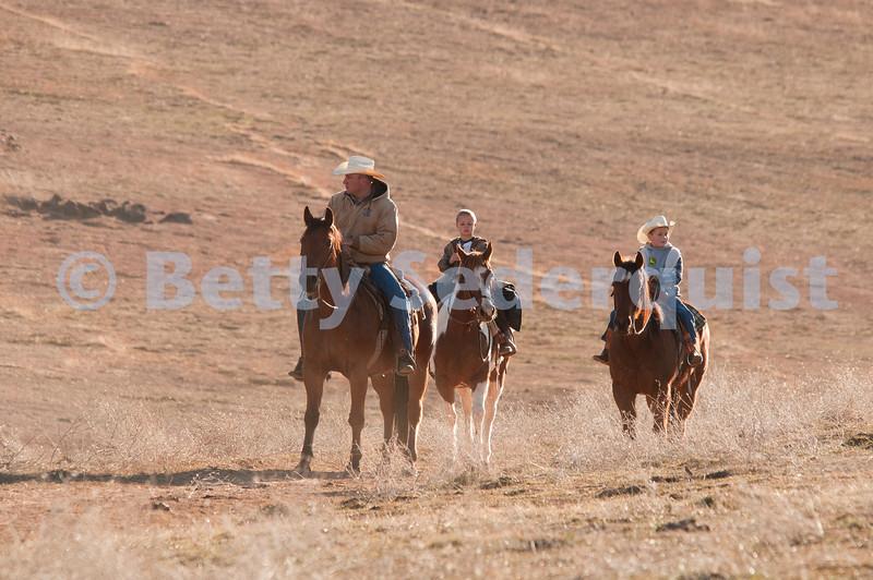 Children Riding Horseback on the Ranch