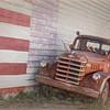 Old Truck and American Flag, Seligman, Arizona