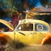 Painterly View of VW Planter