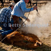 Cowboy Prepares to Brand a Calf
