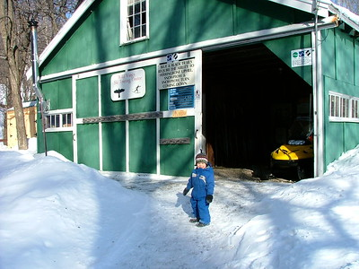 In front of the barn, 2008.