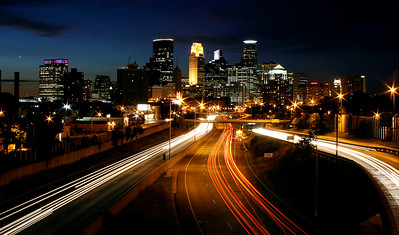 minneapolis; night; downtown