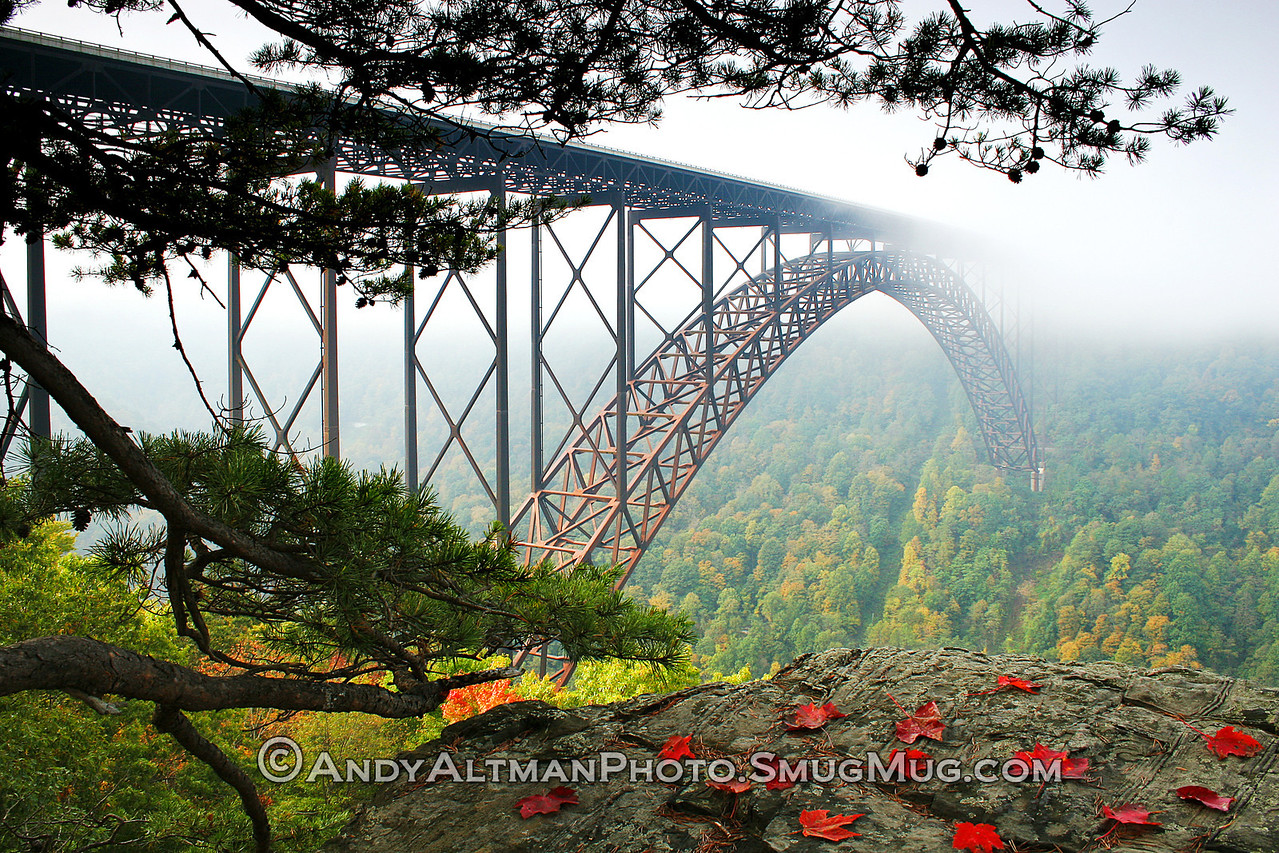 Foggy Morning, New River Gorge Bridge