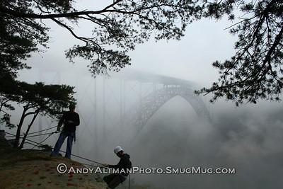 Climbing by the Bridge