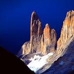 The Torres del Paine. Torres del Paine National Park (Parque Nacional Torres del Paine), Chile.