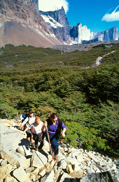 The French Valley. Torres del Paine National Park (Parque Nacional Torres del Paine), Chile.
