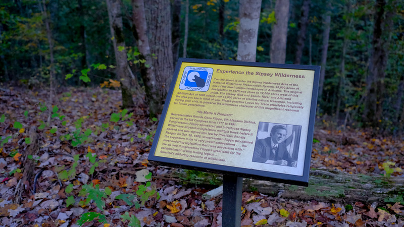 """Experience the Sipsey Wilderness"" Information Sign"