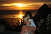 Whitney and Mark Koelker on Isla Mujeres, Mexico at sunset