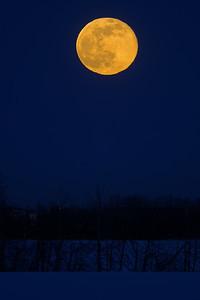Moon rise over St Albert