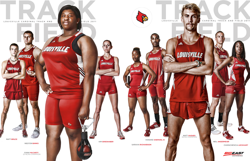 Louisville Track and Field 2011 media publication cover Design and Photography by David Klotz